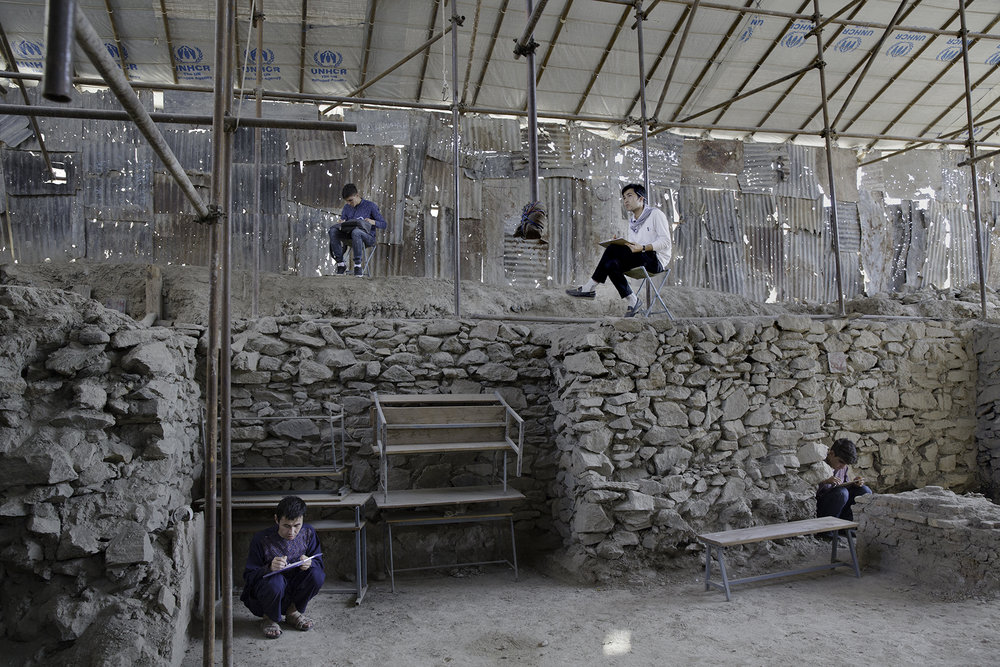 What started out as an architectural project to restore Gudri Mosque soon began involving the students in other disciplines – archaeology, preservation, and urban planning – as they began to probe the underpinnings of the damaged structure and found the remains of an earlier seventeenth-century building, which is rare in Kabul.