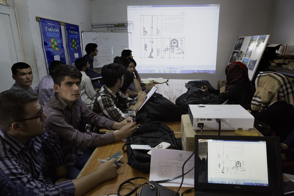 Kabul is faced with overpopulation and stress on the city's infrastructure. Effective urban planning and preservation of Kabul's historic districts pose challenges for engineers and architects. Students at Kabul University listen to architect Yasin Hejrat discuss the complexities of preserving the city's historical sites and Kabul's breakneck growth.