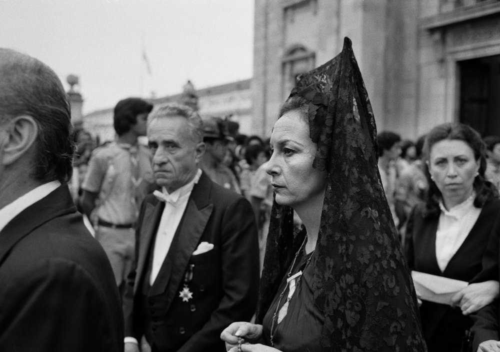 Dignitaries leave the funeral ceremony of Mario Cardinal Casariego, the Roman Catholic Archbishop of Guatemala, in Guatemala City following his heart attack on June 15, 1983.