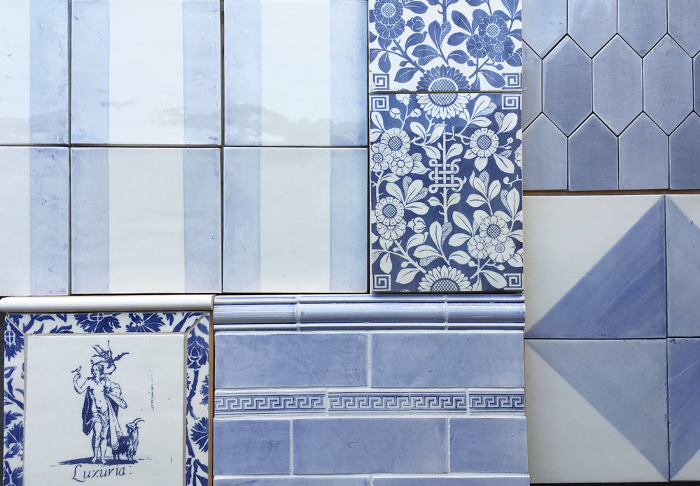 Blue, or... - We offer a full range of colors for any of our decorative prints, field tiles and trims.