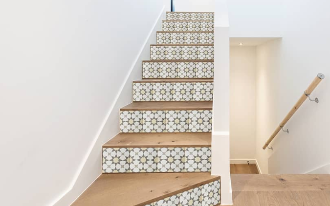"LILI Cement Tile: 6"" Stair Risers"