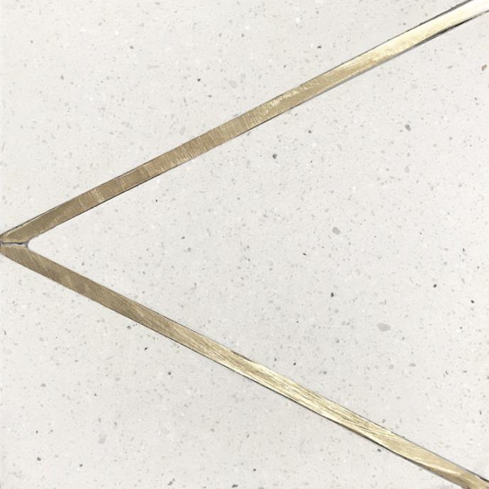 Tabarka Studio Basel Tile : Inlay brass terrazzo