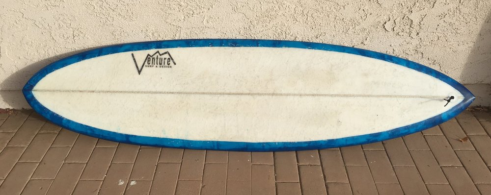 """6'7"""" 80.OH quad channel glass on single fin"""