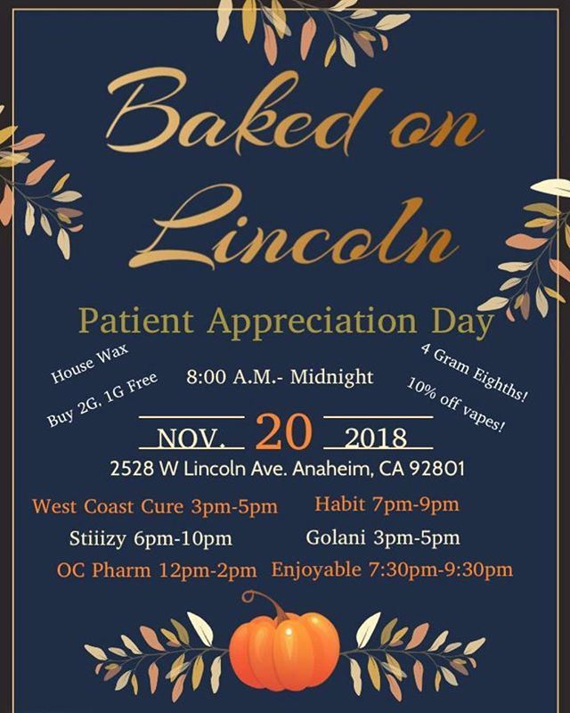 PATIENT APPRECIATION DAY TOMORROW! ⭐️🎉 Come in and stock up to get ready for the holiday season! We have a lot of great vendors for you guys 💚