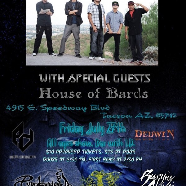 Next show in Tucson!! Who is gonna come hang out!! We might have a new song to play! #numetal #show #flyer #rockrap