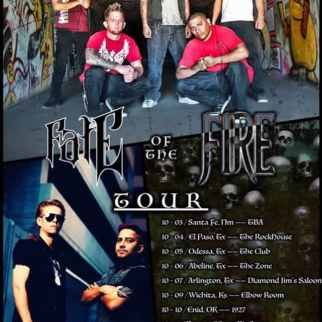 The next tour is right around the corner! We will be hitting the road with our boys in @interfatemusic! Who will@we see on the road?! #tour #tourlife #roadtested #fireglass #interfate #fateofthefiretour