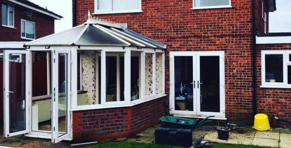 Single storey extension in Warrington.