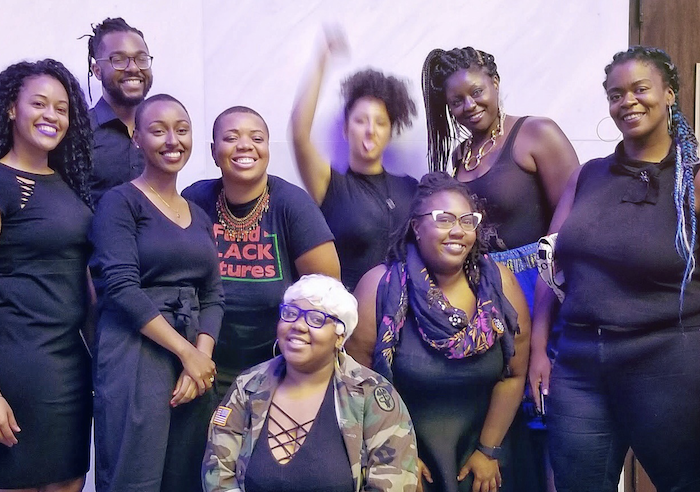 Formerly incarcerated mothers, organizers and activists at the Kennedy Center in Washington D.C., after performing a play highlighting Black-Palestinian solidarity on September 3, 2018. (Will Johnson)
