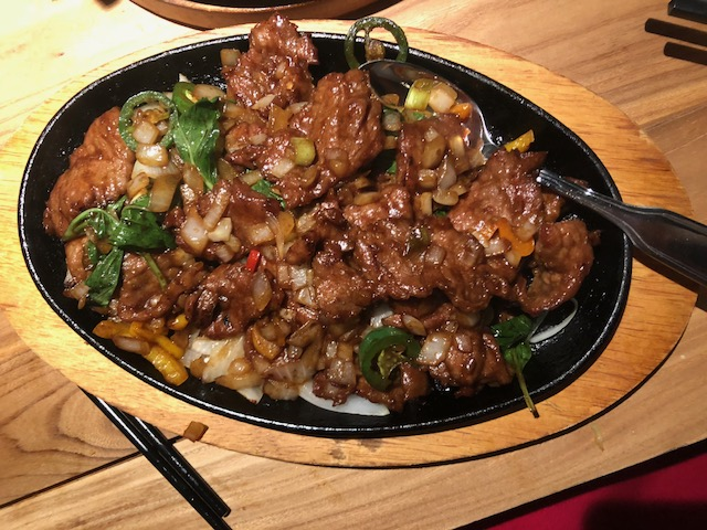Wild Pepper Beef - this was SPICY!