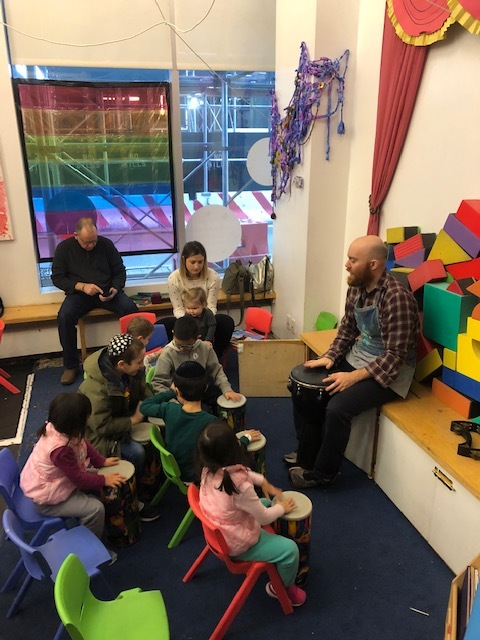 A drop in music class in action!