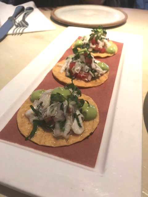 The Outstanding Crab Tostadas
