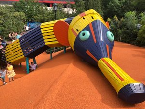 Chelsea Waterside Play Area - A Beautiful renovation of a Chelsea Playground. Pack your swimsuit!