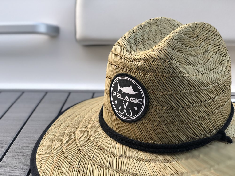 fb0b11f256be1 Pelagic Baja Straw Hat Emblem Close Up