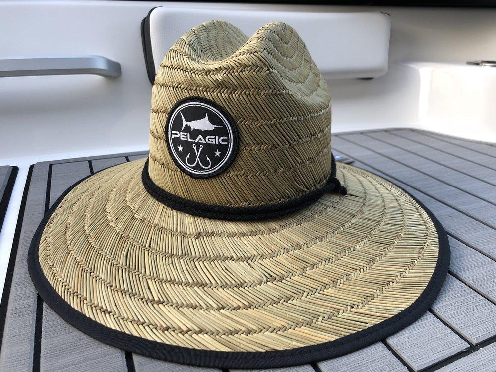 7dcdeba480bdd Pelagic Baja Straw Hat on Boat Deck