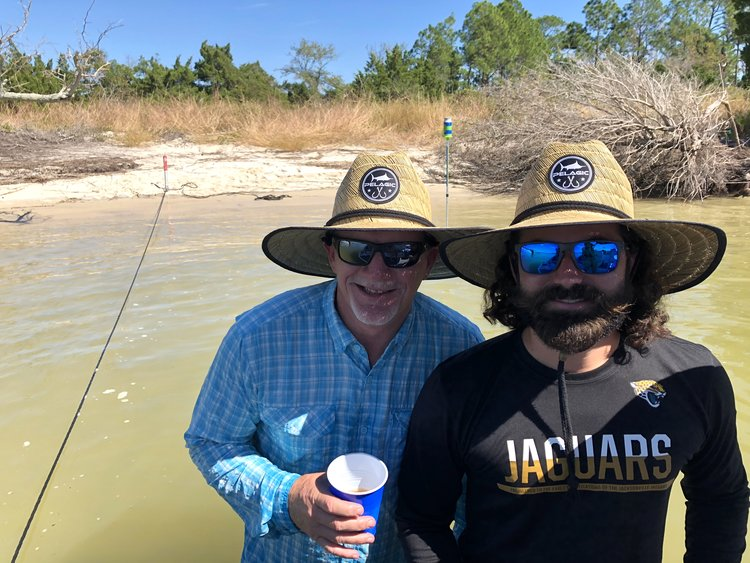 9143df9cea262 Zack and Barry Wearing Pelagic Baja Straw Hat at Beach in Jacksonville