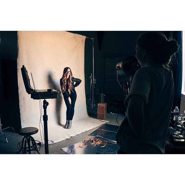 Behind the scenes with @rachel_reinert earlier this week.  Watch out for the gold Rachel will be dropping soon!