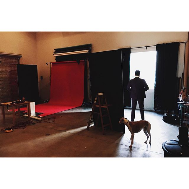 Behind the scenes! @sampalladio (and @riverthewhippet) in the house today! 📸