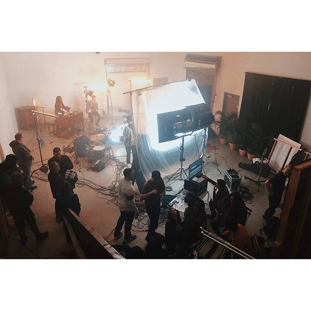 @joe_gomez and company making video magic the last 2 days here at the studio!