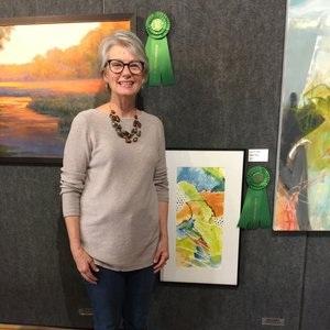 "Wise Path, an   Original Watercolor, (16"" x 27"" framed) won a Jerry's Artarama Award at the WAA Spring Show"