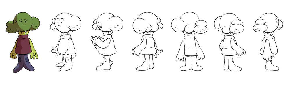 Broccoli Head color test and turn around