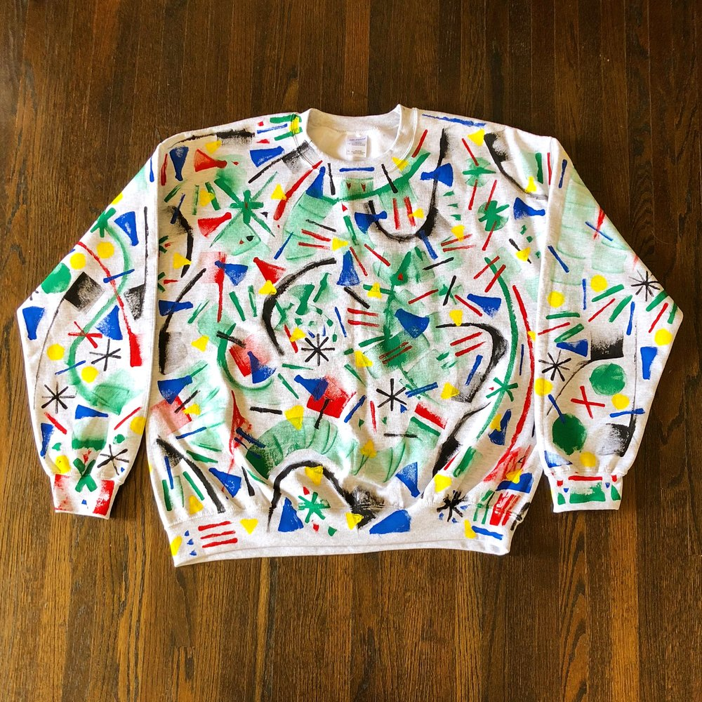 Painted Crewneck Sweatshirt