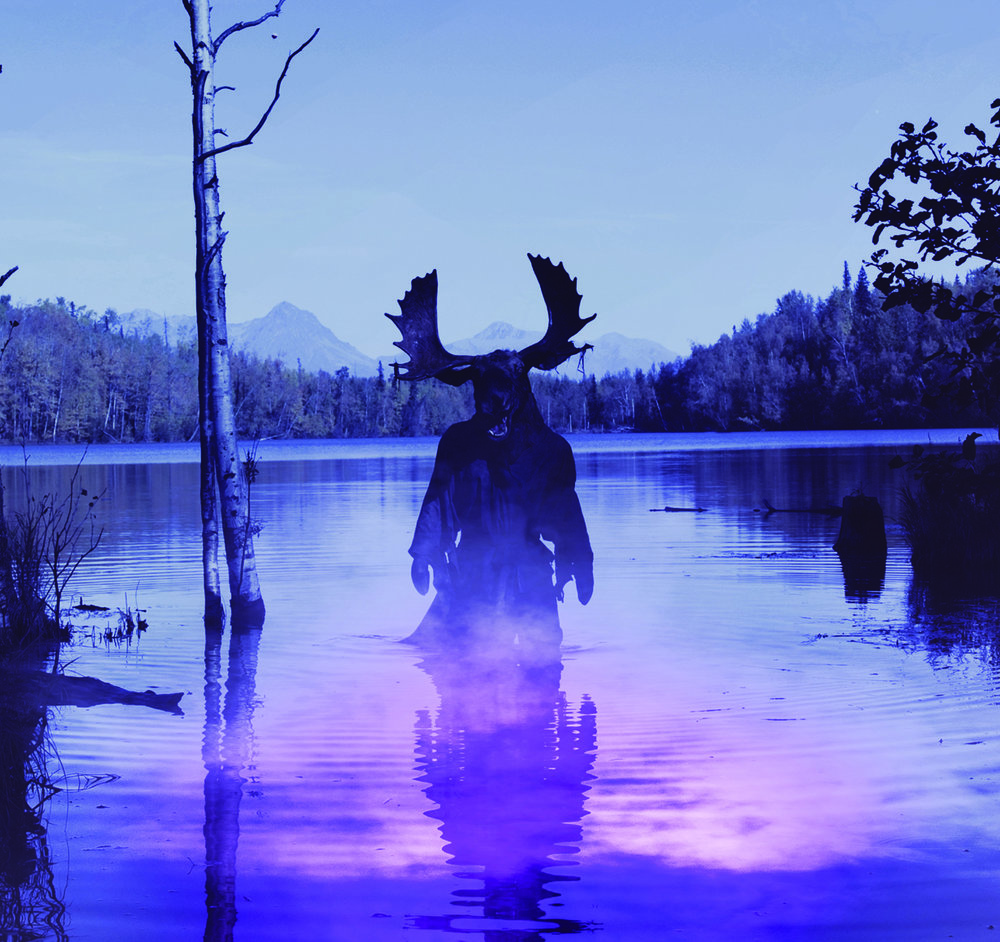 "A ""moosetaur"" rises up to terrify Alaskans in the made-in-Wasilla horror-comedy ""Moose: The Movie,"" which will open the 2018 Bicknell International Film Festival in the central Utah town of Bicknell on Friday, July 27. (Photo courtesy Sons of Winter Productions)"
