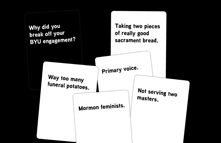 Examples of the answers in the party game Dang You to Heck. (Courtesy Jerilyn Pool)