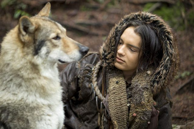 """Keda (Kodi Smit-McPhee), a young hunter in prehistoric Europe, befriends a wolf in the adventure drama """"Alpha."""" (Photo courtesy Columbia Pictures)"""