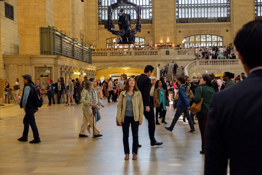 "Agnes (Kelly Macdonald) takes in the grandeur of Grand Central Station, in the drama ""Puzzle."" (Photo by Linda Kallerus, courtesy Sony Pictures Classics)"