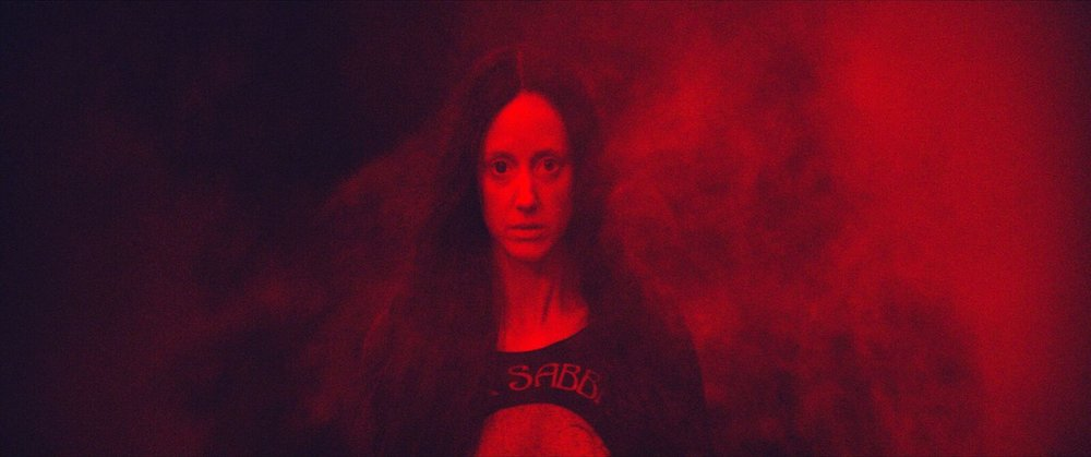 "Andrea Riseborough plays the title character in the bloody revenge thriller ""Mandy."" (Photo courtesy RLJ Entertainment)"