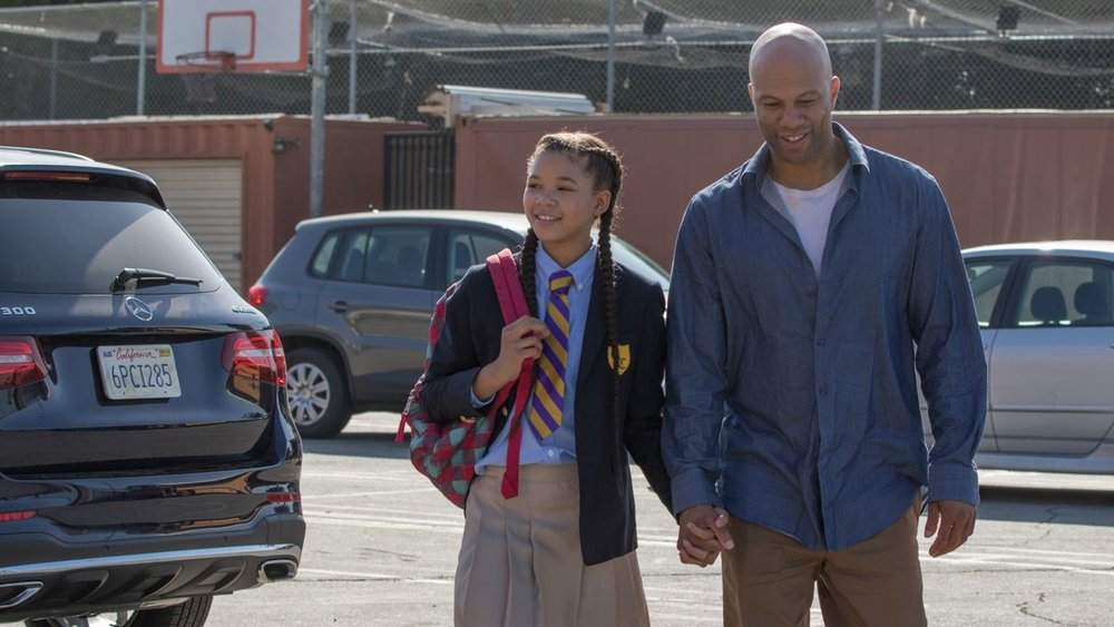 "Daniel (Common, right) escorts his daughter, Patricia (Storm Reid), to school in the comedy ""A Happening of Monumental Proportions."" (Photo courtesy Akimiski Media)"