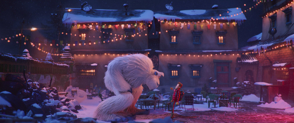 "Migo, left (voiced by Channing Tatum), a Yeti, encounters Percy (voiced by James Corden), a human, in the animated adventure ""Smallfoot."" (Image courtesy Warner Bros. Pictures)"