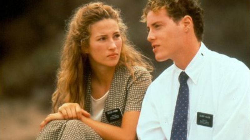"Jacqui Gray, left, and Matthew A. Brown played LDS missionaries in Richard Dutcher's 2000 drama ""God's Army."" For years, Dutcher has dealt with audiences in the LDS community who avoid R-rated movies. (Photo courtesy Excel Entertainment)"