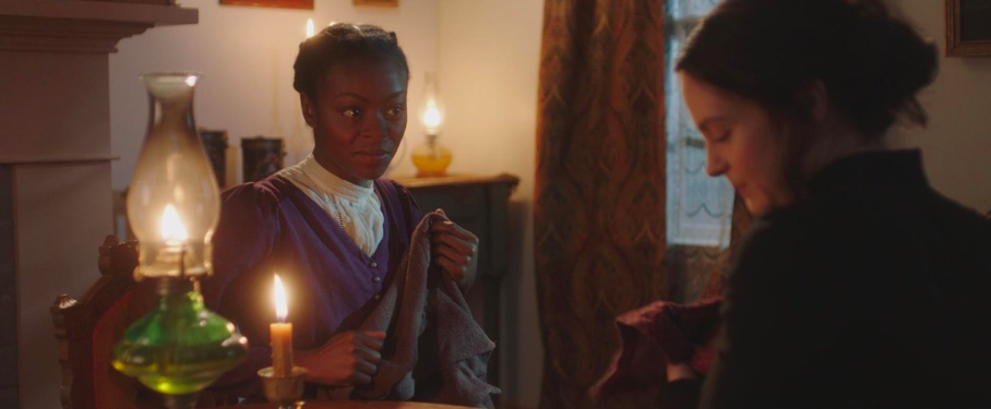 "Danielle Deadwyler and Emily Goss portray Jane Manning and Emma Smith, respectively, in the historical drama, ""Jane & Emma."" (Photo courtesy Excel Entertainment)"