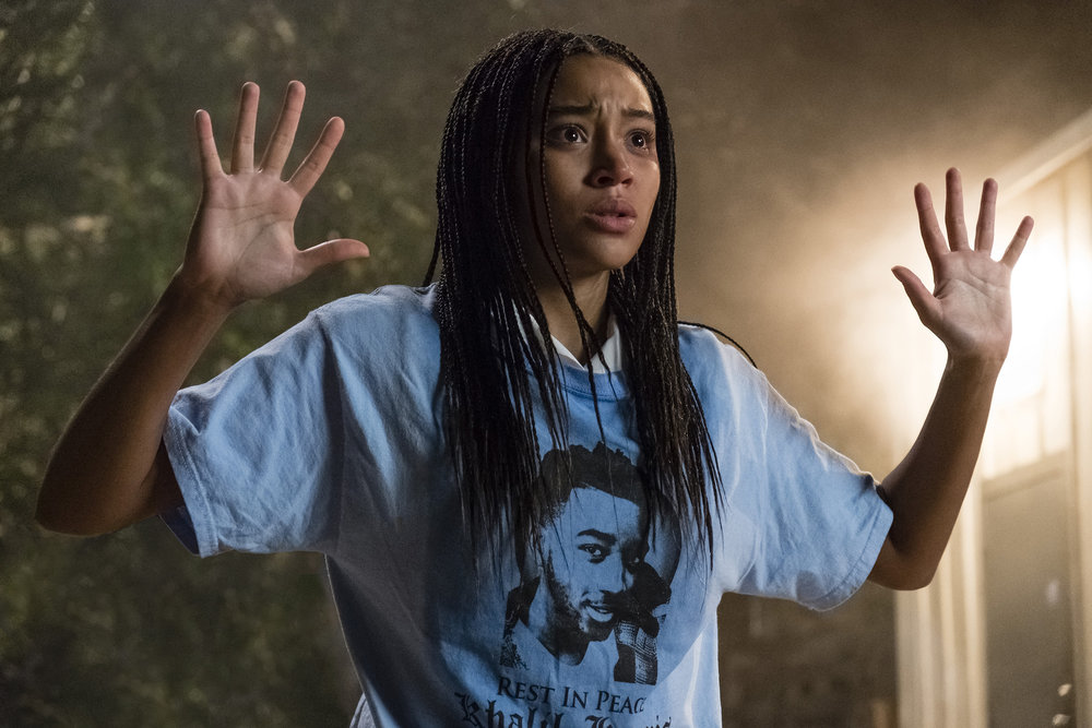"Amandla Stenberg plays Starr Carter, who witnesses a white police officer shooting an unarmed black man, in the drama ""The Hate U Give."" (Photo by Erika Doss, courtesy 20th Century Fox)"