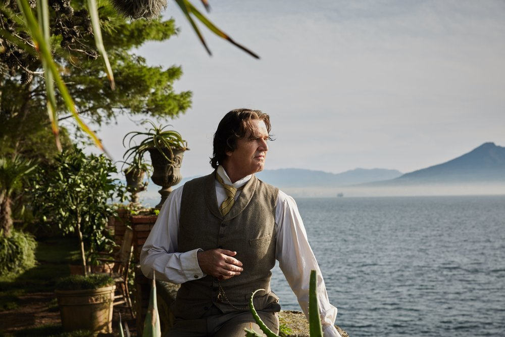 "Rupert Everett plays Oscar Wilde, in exile on the Mediterranean in his final years, in the drama ""The Happy Prince,"" which Everett wrote and directed (Photo by Wilhelm Moser, courtesy Sony Pictures Classics)"