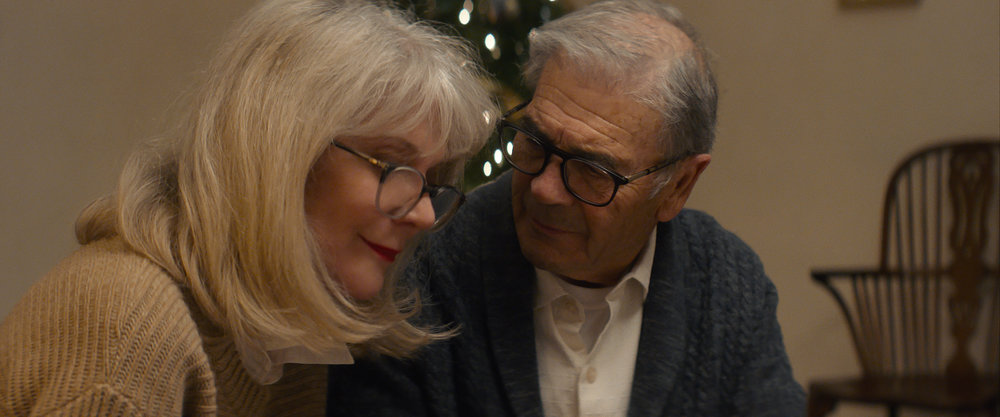 "Bert (Robert Forster, right) helps his Alzheimer's-afflicted wife Ruth (Blythe Danner) through a lost memory in the drama ""What They Had."" (Photo courtesy Bleecker Street.)"