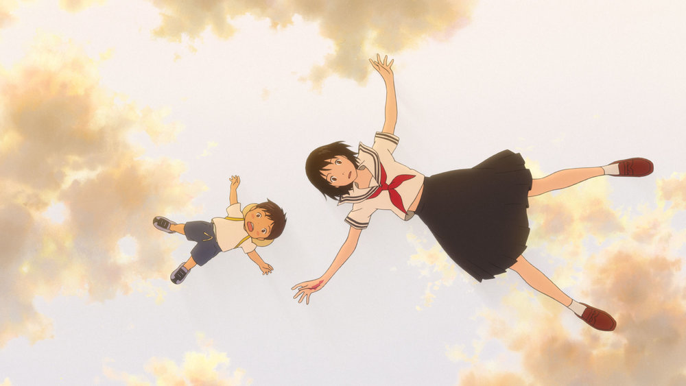 "Kun, at left, and a teen manifestation of his baby sister, Mirai, have some strange adventures in the Japanese animated film ""Mirai."" (Photo courtesy GKids)"