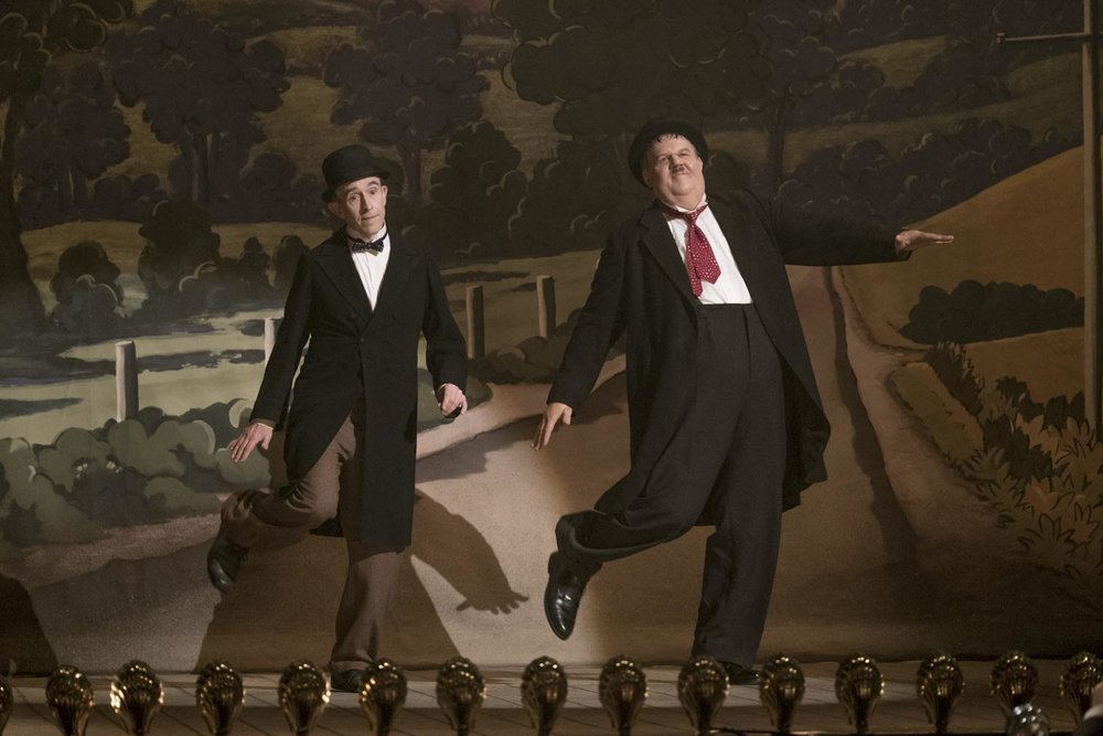 """Steve Coogan, left, and John C. Reilly play legendary comedians Stan Laurel and Oliver Hardy, in the comedy-drama """"Stan & Ollie."""" (Photo by Nick Wall, courtesy Sony Pictures Classics)"""