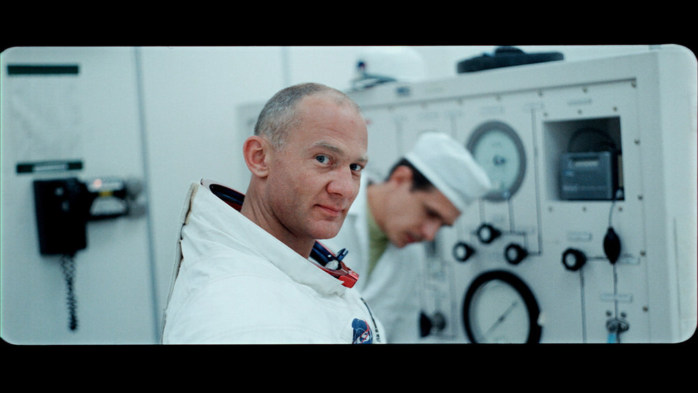 "Astronaut Buzz Aldrin in his space suit, in an image from Todd Douglas Miller's documentary ""Apollo 11,"" an official selection in the U.S. Documentary Competition of the 2019 Sundance Film Festival. (Photo courtesy Neon/CNN Films/Sundance Institute)"