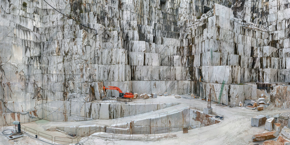 """A marble quarry in Carrera, Italy, where Michelangelo got his stone, is one of the workspaces seen in the documentary """"Anthropocene: The Human Epoch,by Jennifer Baichwal, Nicholas de Pencier, and Edward Burtynsky, an official selection in the Spotlight program of the 2019 Sundance Film Festival. (Photo by Edward Burtynsky, courtesy Sundance Institute)"""