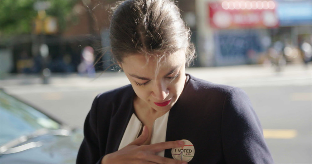 "Bartender-turned-candidate Alexandria Ocasio-Cortez is one of four insurgent women running for office, and chronicled in Rachel Lears' ""Knock Down The House,"" which will screen in the U.S. Documentary Competition at the 2019 Sundance Film Festival. (Photo by Rachel Lears, courtesy Sundance Institute)"