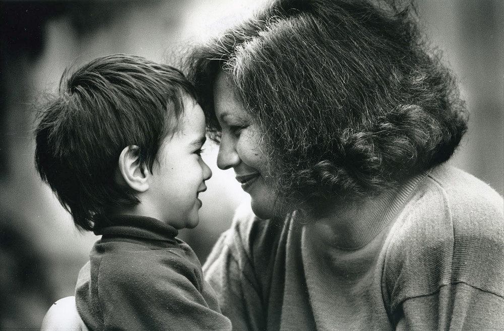 """Maori filmmaker Merata Mita, here shown with one of her children, is profiled in """"Merata: How Mum Decolonised The Screen, directed by her son, Heperi Mita. It is an official selection in the Documentary Premieres program of the 2019 Sundance Film Festival. (Photo courtesy New Zealand Herald/Sundance Institute)"""