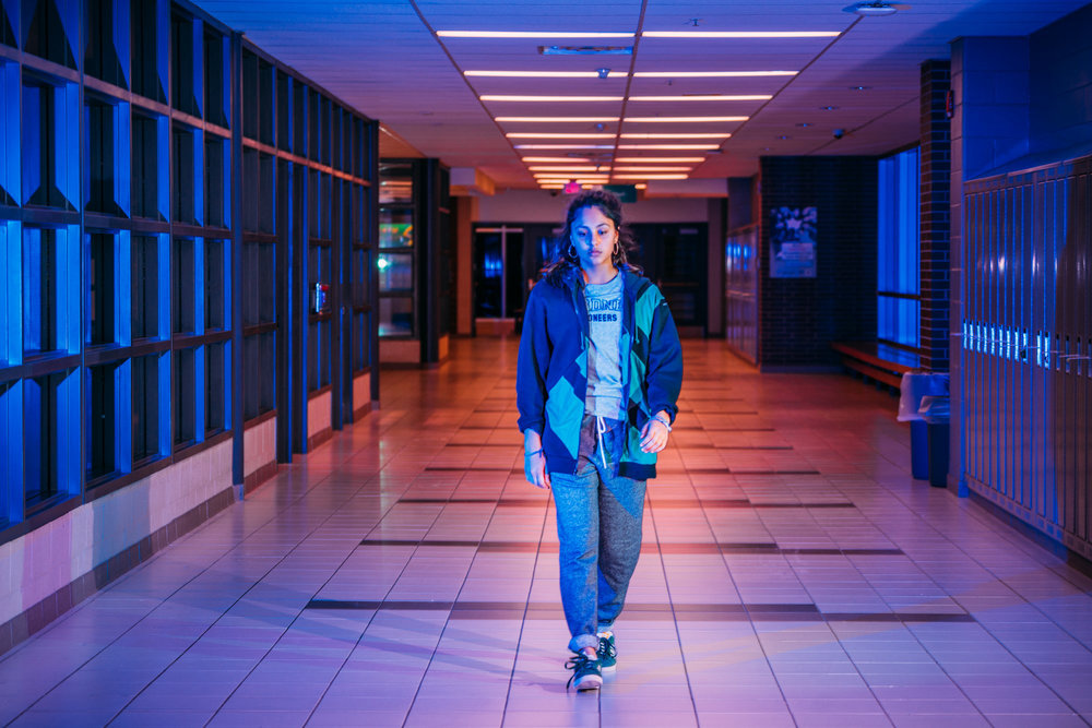 """Mandy (Rhianne Barreto), a high-school sophomore, must deal with the fallout when an incriminating video goes viral in """"Share,"""" by Pippa Bianco, an official selection in the U.S. Dramatic Competition of the 2019 Sundance Film Festival.(Photo by Josh Johnson, courtesy Sundance Institute)"""