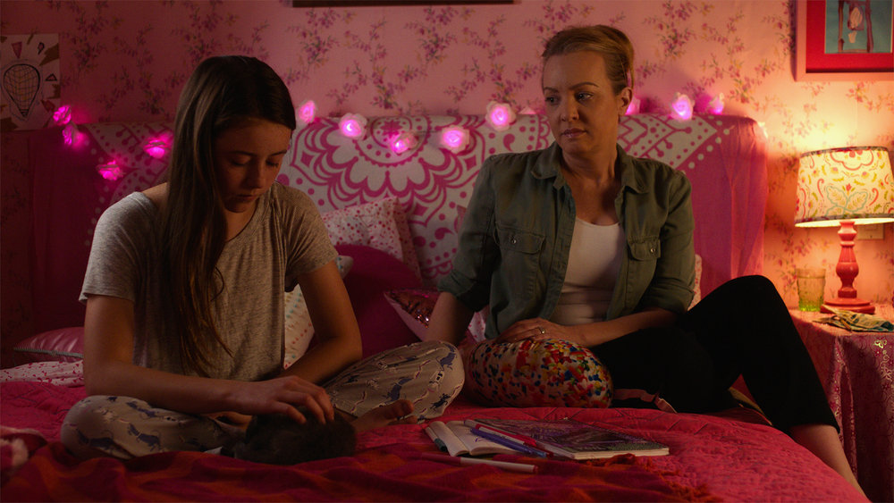 "Wendi McLendon-Covey, right, plays Cathy, an obsessive-compulsive mom, here talking to her daughter Tara (Kate Alberts), in Debra Eisenstadt's ""Imaginary Order,"" an official selection in the U.S. Dramatic Competition of the 2019 Sundance Film Festival. (Photo courtesy Sundance Institute)"
