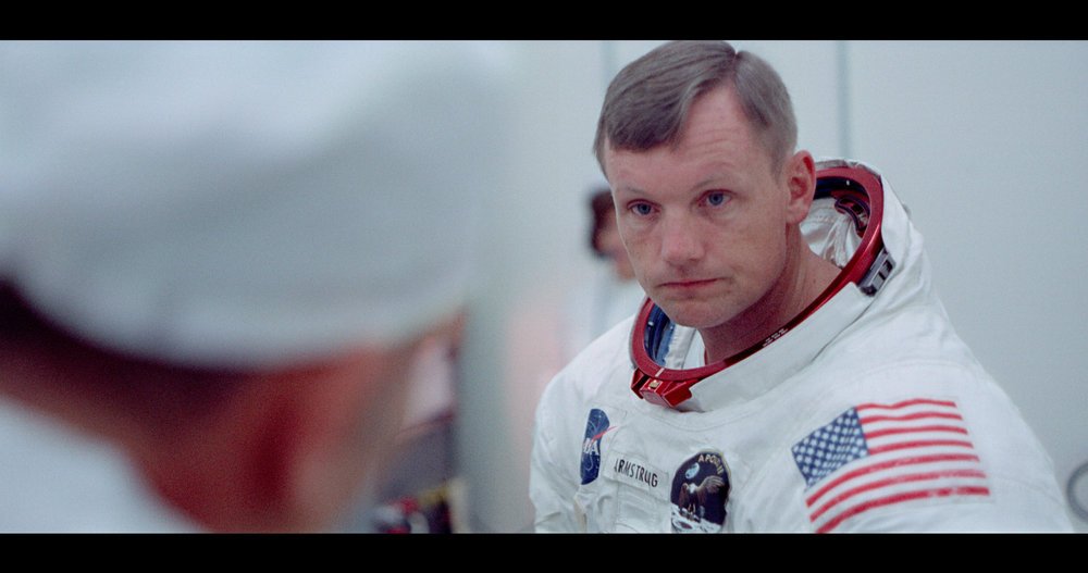 """Astronaut Neil Armstrong goes through final preparations before boarding the capsule that will take him, Buzz Aldrin and Michael Collins to the moon in 1969, in a moment from the documentary """"Apollo 11."""" (Photo courtesy Neon / CNN Films)"""