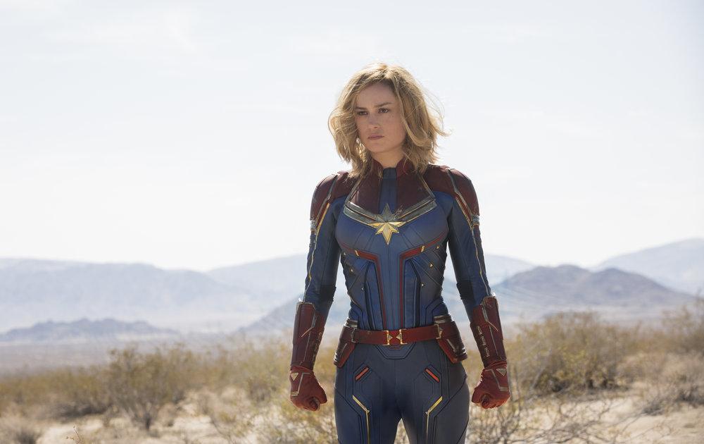 """Brie Larson stars in Marvel's """"Captain Marvel."""" (Photo by Chuck Zlotnick, courtesy Marvel Studios/Disney)"""