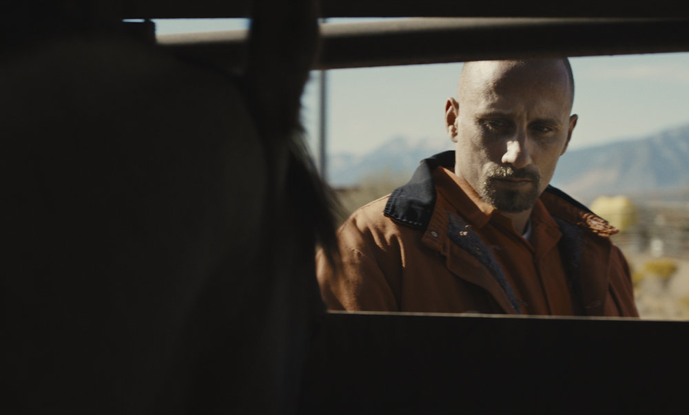"""Matthias Schoenarts plays Roman Coleman, a Nevada prison inmate who is given a chance at redemption when he takes part in a wild horse reclamation program, in the drama """"The Mustang."""" (Photo courtesy Focus Features)"""