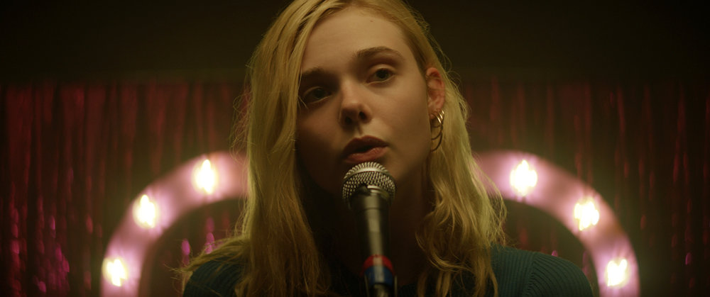 """Violet (Elle Fanning) hopes a singing competition will be her ticket out of her small village on the Isle of Wight, in the drama """"Teen Spirit."""" (Photo courtesy Bleecker Street Films.)"""