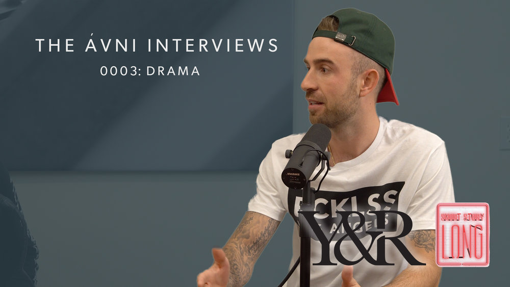 """0003: DRAMA  Founder of Young and Reckless clothing, Chris """"Drama"""" Pfaff shares with us how he made a path for himself from Reality TV to being a successful entrepreneur."""